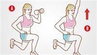 4 bài tập tạ tay giúp cơ bụng săn chắc
