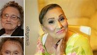 Cụ bà 80 tuổi, nhờ makeup trẻ ra 20 tuổi