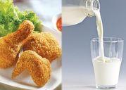Tác hại của uống sữa khi ăn thịt gà cần biết để tránh xa