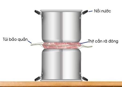 Mách bạn 7 cách rã đông thịt nhanh lại an toàn mà không cần đến lò vi song