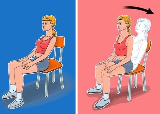 7 bài tập cho bụng phẳng và eo thon mà bạn có thể tập khi ngồi trên ghế