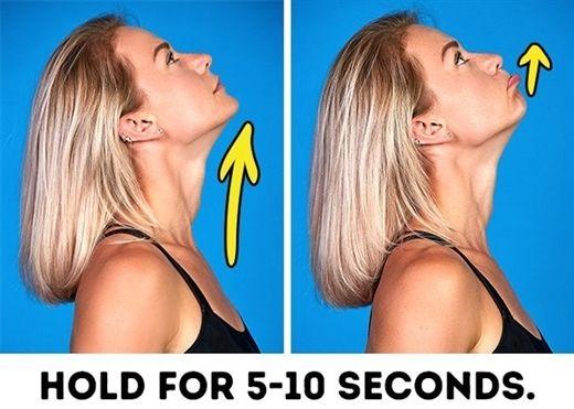 8 bài tập đơn giản cực hiệu quả để làm săn chắc, thon gọn khuôn mặt