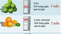 Bạn đã thực sự biết thời gian bảo quản trong tủ lạnh bao lâu của thực phẩm chưa?