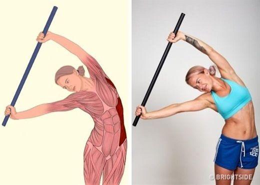 12 động tác kéo giãn cơ giúp cơ thể hết đau xương khớp và thon thả