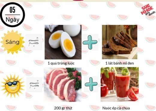 Thực đơn giảm cân hiệu quả của người Nhật- giảm cấp tốc 4kg