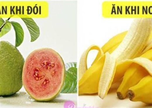 Những loại trái cây nên và không nên ăn khi bị đói