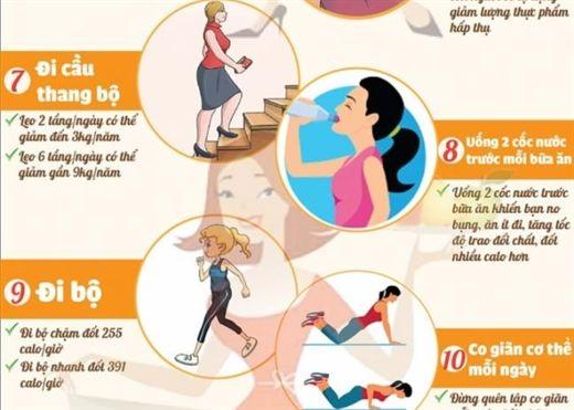 14 cách giúp giảm cân nhanh cho những chị em lười