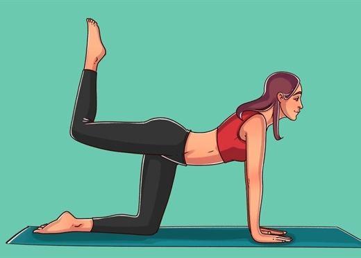 6 động tác kéo căng cơ bụng, đốt cháy mỡ thừa cả eo và mông