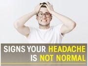 Dấu hiệu và triệu chứng cho biết bạn đang bị chứng đau đầu không bình thường