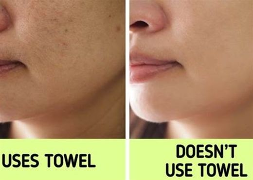 Tại sao không nên dùng khăn tắm để lau khô mặt, 5 tác hại từ việc sử dụng khăn tắm lau mặt