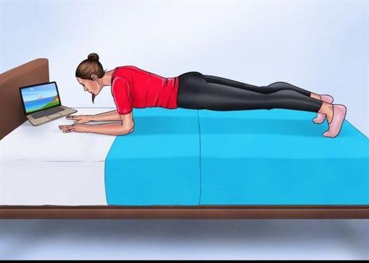 Chỉ nằm trên giường vẫn sở hữu một cơ thể khoẻ mạnh và thon gọn với 10 bài tập này