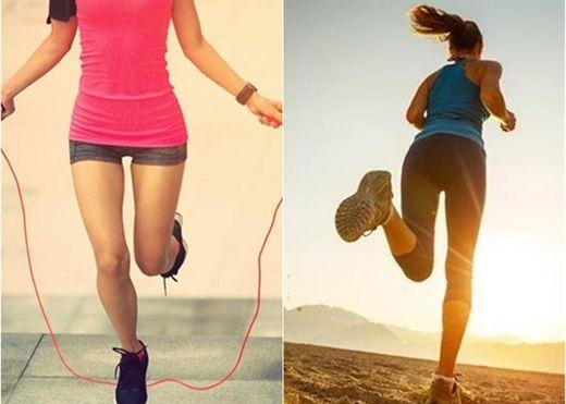 Chạy bộ và nhảy dây - Cách nào tốt hơn để giảm cân?