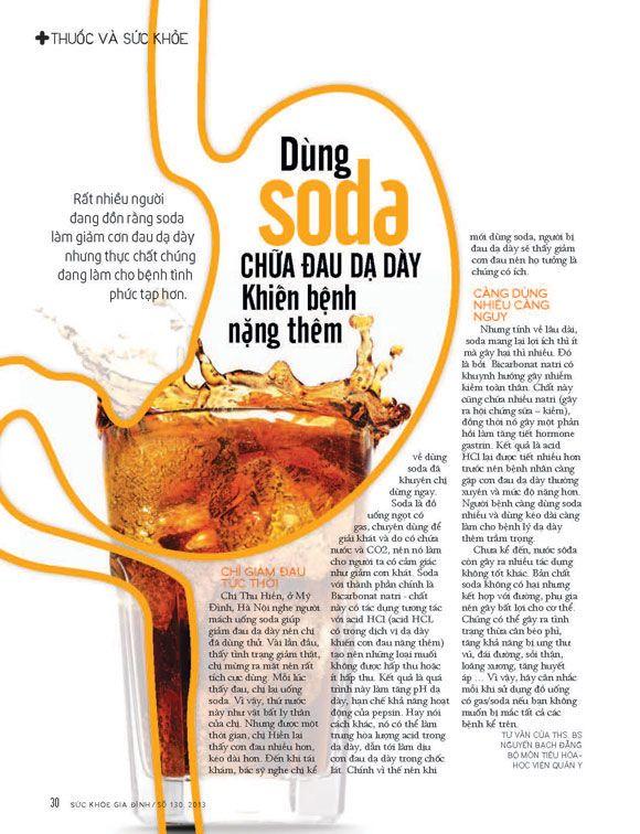 Dùng soda chữa đau dạ dày khiến bệnh nặng thêm